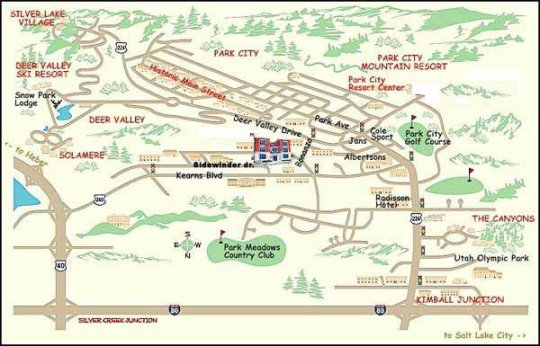 Park City Maps From Park City Information Org The Park City At A - Park city map